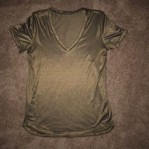 Lululemon What The Sport Tee -Heathered Black/Gold